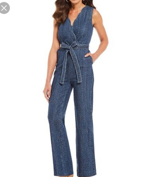 Reba Denim - NWT Sleeveless Westward Canyon Dark Wash Jumpsuit